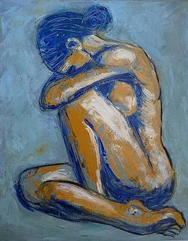 Blue Soul - Female Nude by Carmen Tyrrell