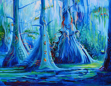 Blue Spirit Trees by Janet Oh