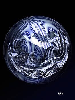 Hakon Soreide - Blue-Striped Swirls
