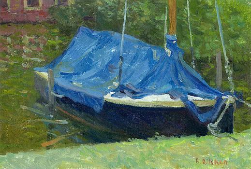 Blue tarpaulin by Ben Rikken