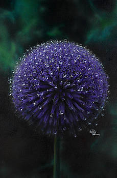 Blue Thistle by Lynette Yencho