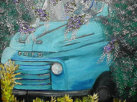 Blue Truck by Linda Bright Toth
