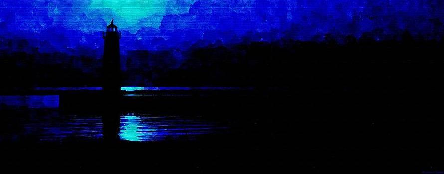 Rosemarie E Seppala - Blue Twilight Lighthouse