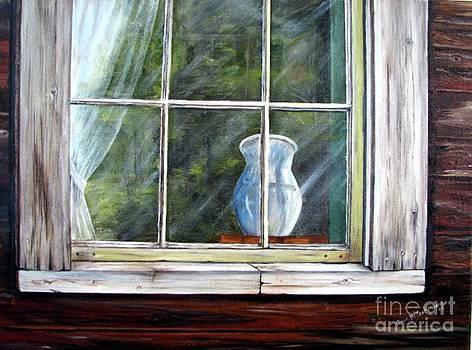 Blue Vase by Anna-maria Dickinson