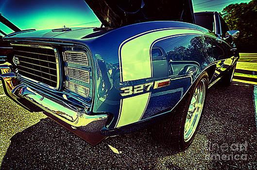 Danny Hooks - Blue Vintage Muscle Car
