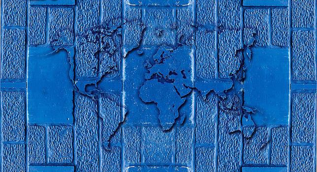 Hakon Soreide - Blue Wall World Map