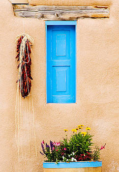 Blue Window - Taos by Patrick Derickson