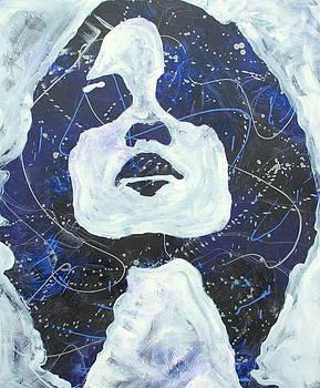 Blue woman by Nina Sunde