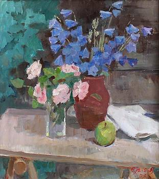 Bluebell Flowers Still Life by Alexander Stolbov