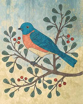 Bluebird and Berries by Karyn Lewis Bonfiglio