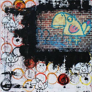 Bluebird-Brickbird by Sanne Rosenmay