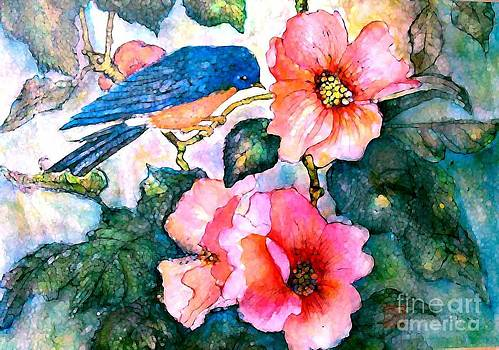 Bluebird in Spring by Norma Boeckler