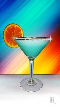 Bluemoon Cocktail Martini by Luis Padilla