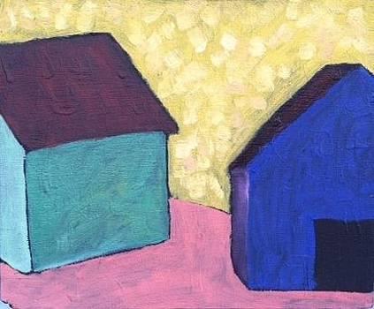 BluePurple Barn and Friend by Molly Fisk