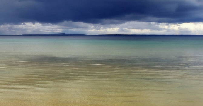 Beautiful Blues over Mackinac Island  by Marysue Ryan