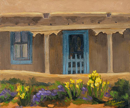 Blumenschein's Garden Taos NM by Julia Grundmeier
