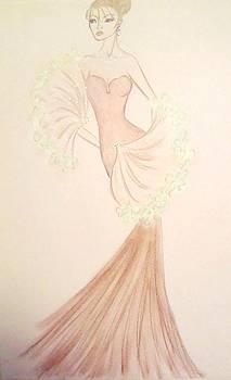 Blushing Chiffon by Christine Corretti