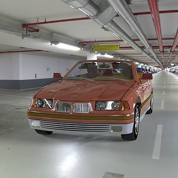 BMW in the Garage by John Hoagland
