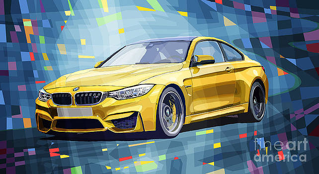 BMW M4 Blue by Yuriy Shevchuk