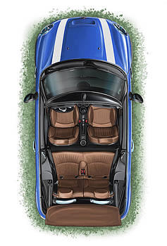 BMW Mini Cooper S Cabrio Blue by David Kyte