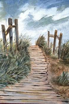 Boadwalk to sea by Peggy Paulson