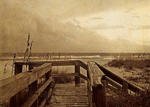Boardwalk on a Stormy Day by Kelly Rockett-Safford