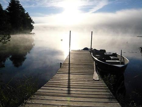 Boat at Dock by Nino Via