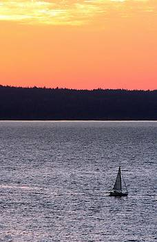 Marv Russell - Boat at Sunset
