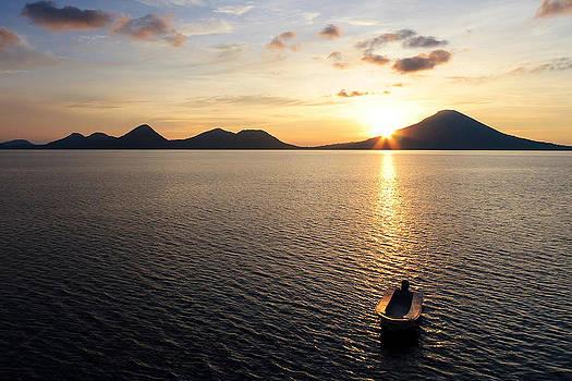 Boat at Sunset in Papua New Guinea by Paula Marie deBaleau