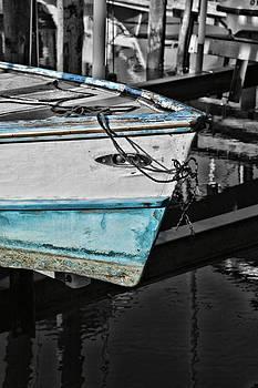 Boat Bow in Black White and Blue by Lynn Jordan