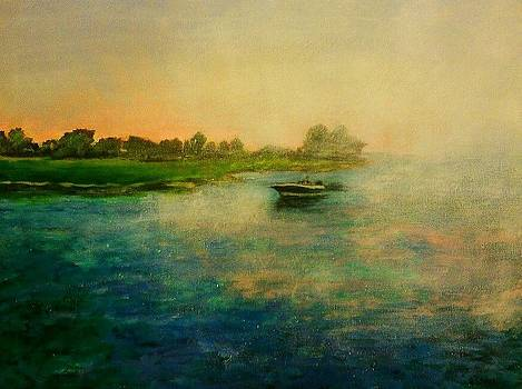Boat Heading Back To The Inlet by Heather  Gillmer