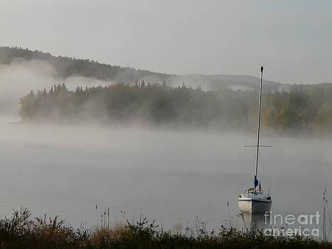 Boat in Fog by Glass Slipper