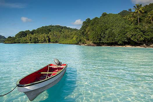 Boat in Lagoon by J Gregory Sherman