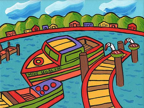 Boat In The Bayou - Cedar Key by Mike Segal