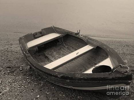 Boat on Black by Katerina Kostaki
