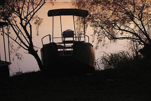 Boat on Sabe River  South Africa by Frank Gaffney