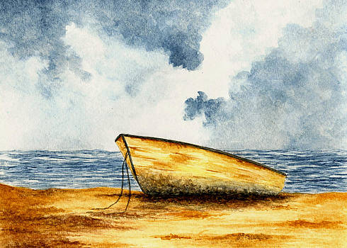 Boat on the Shore by Michael Vigliotti