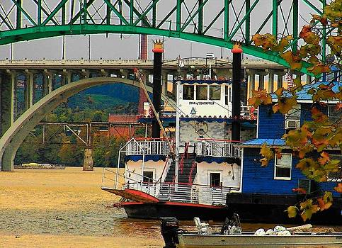 Boat on the Tennessee River by Joyce Kimble Smith