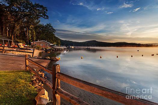 Jo Ann Snover - Boat ramp into lake at sunrise