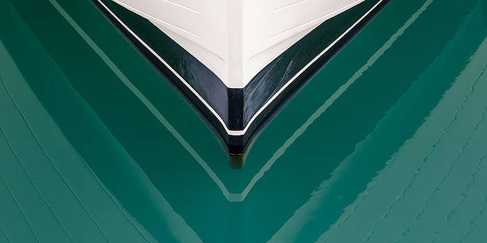 Boat Reflection at Airlie Beach.. Queensland Australia by Rob Huntley