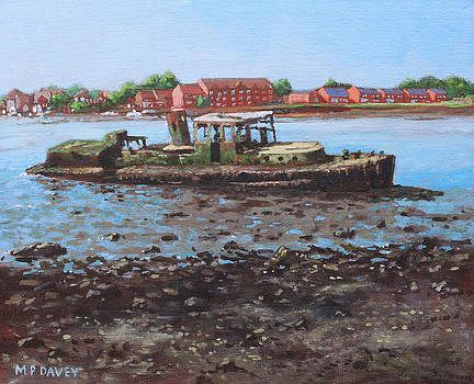 Martin Davey - Boat wreck at Bitterne Manor Park