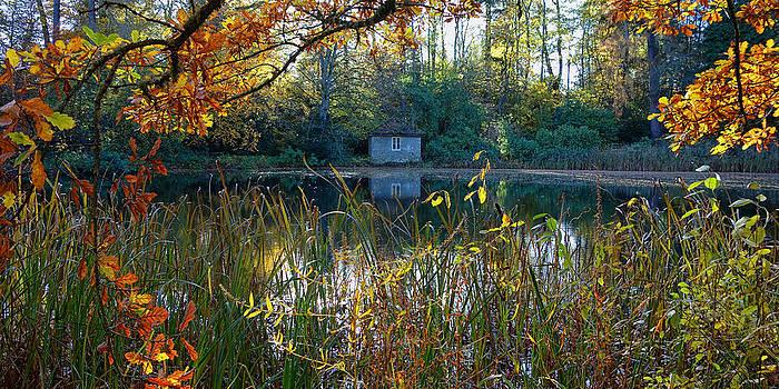 David Pringle - Boathouse in Autumn