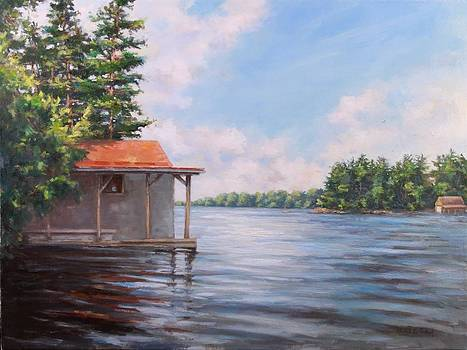 Boathouse on the Lake by Michele Tokach