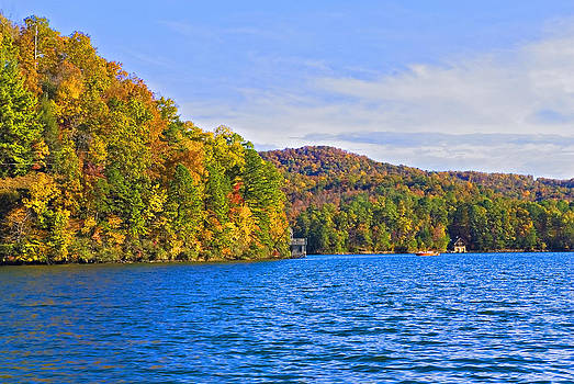 Boating in Autumn by Susan Leggett