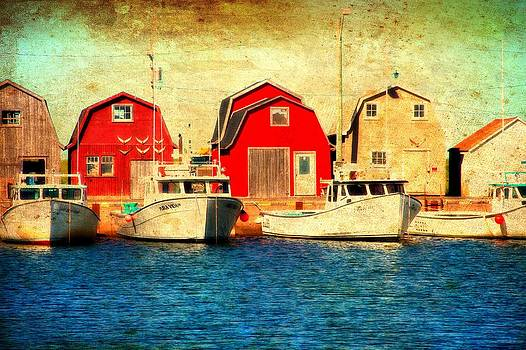 Laura Carter - Boats and Boat Houses PEI Photograph