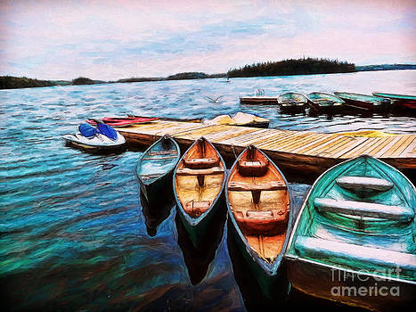 Boats Are Waiting by Claire Bull