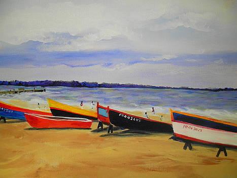 Boats Ashore by Linda Bright Toth