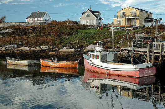 Boats at a small wharf. Peggy's Cove. by Rob Huntley
