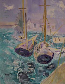 Boats at Sea by Aleezah Selinger