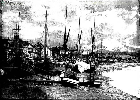 Boats And Barges At Maldon Quay  by Andrew David Photography
